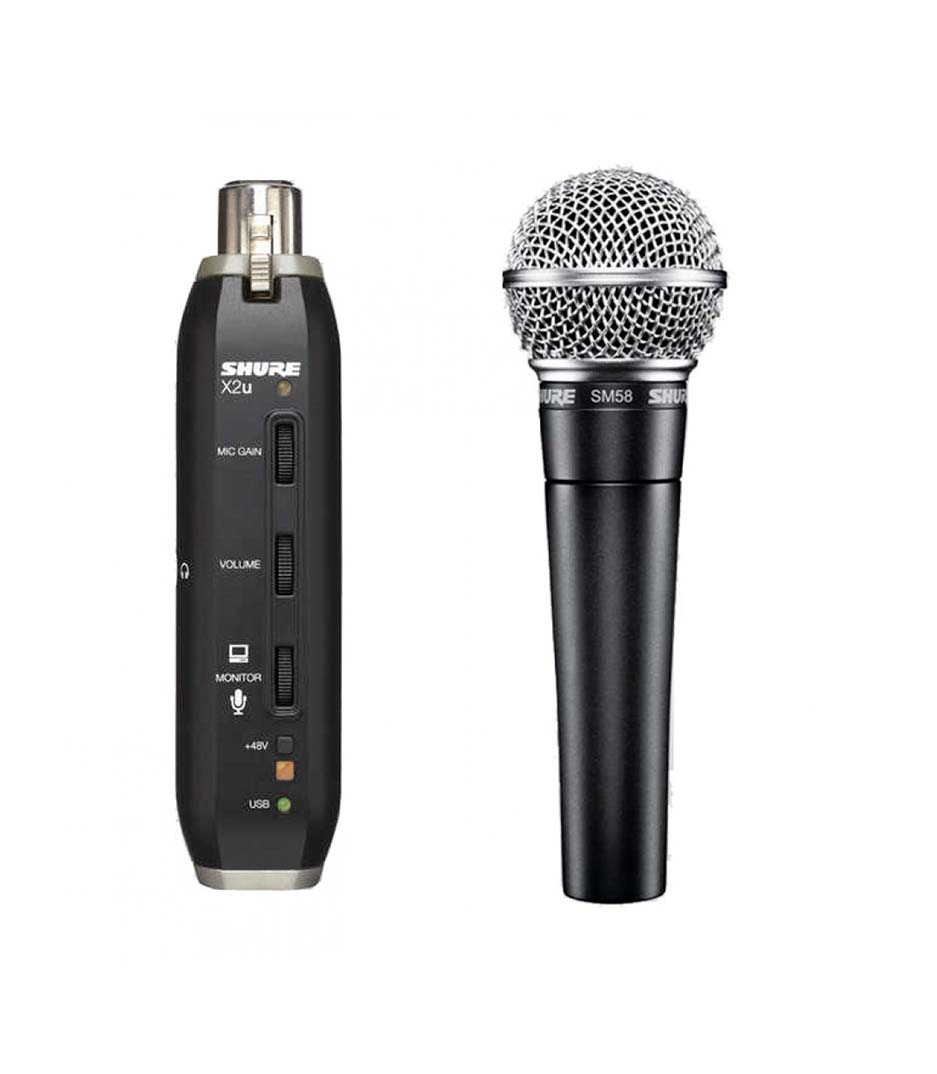 buy shure sm58 x2u x microphone with xlr usb adapter