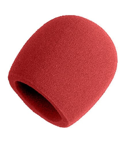 shure - A58WS RED Windscreen Assembly for SM58 Red Colour - Melody House Musical Instruments