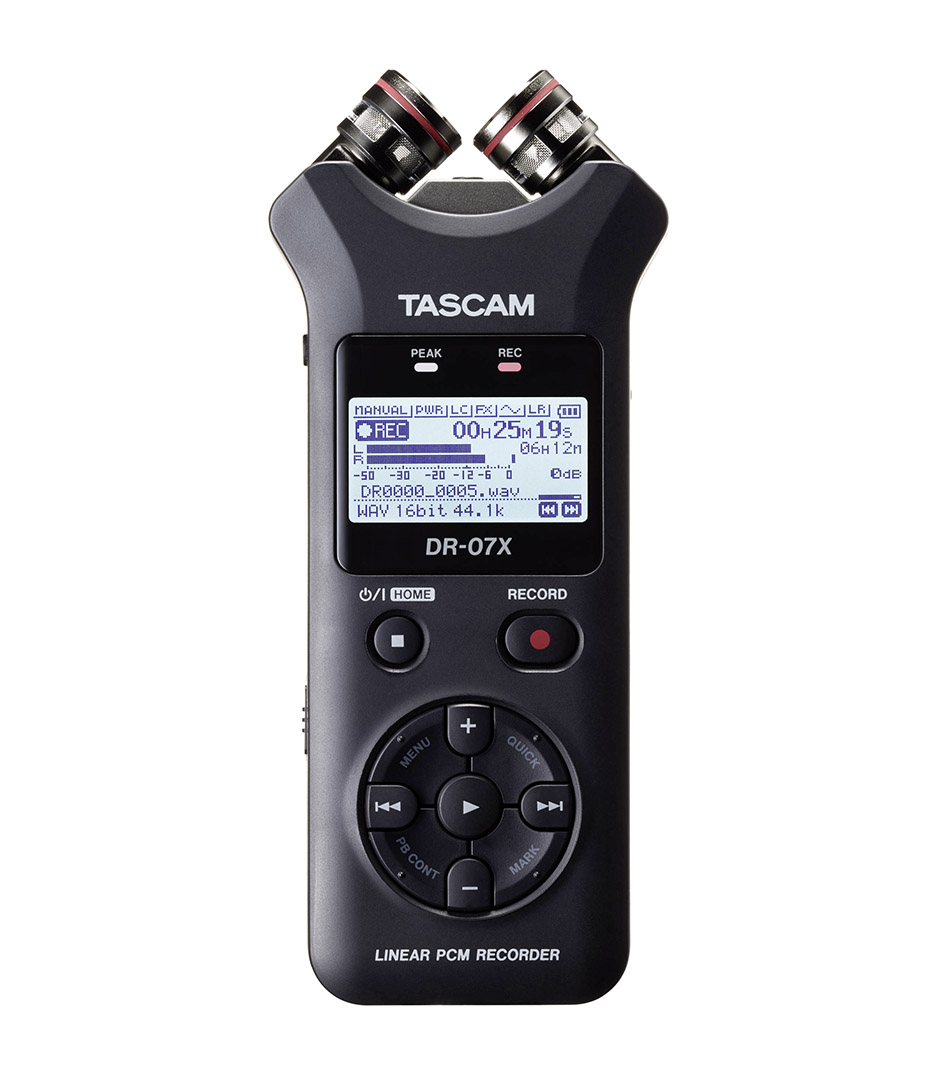Tascam - DR 07X Handheld Linear PCM Recorder with Audio Int