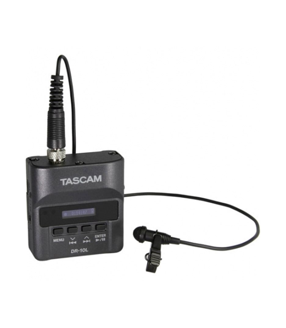 Tascam - DR 10L Micro Linear PCM Recorder with a Lavalier m