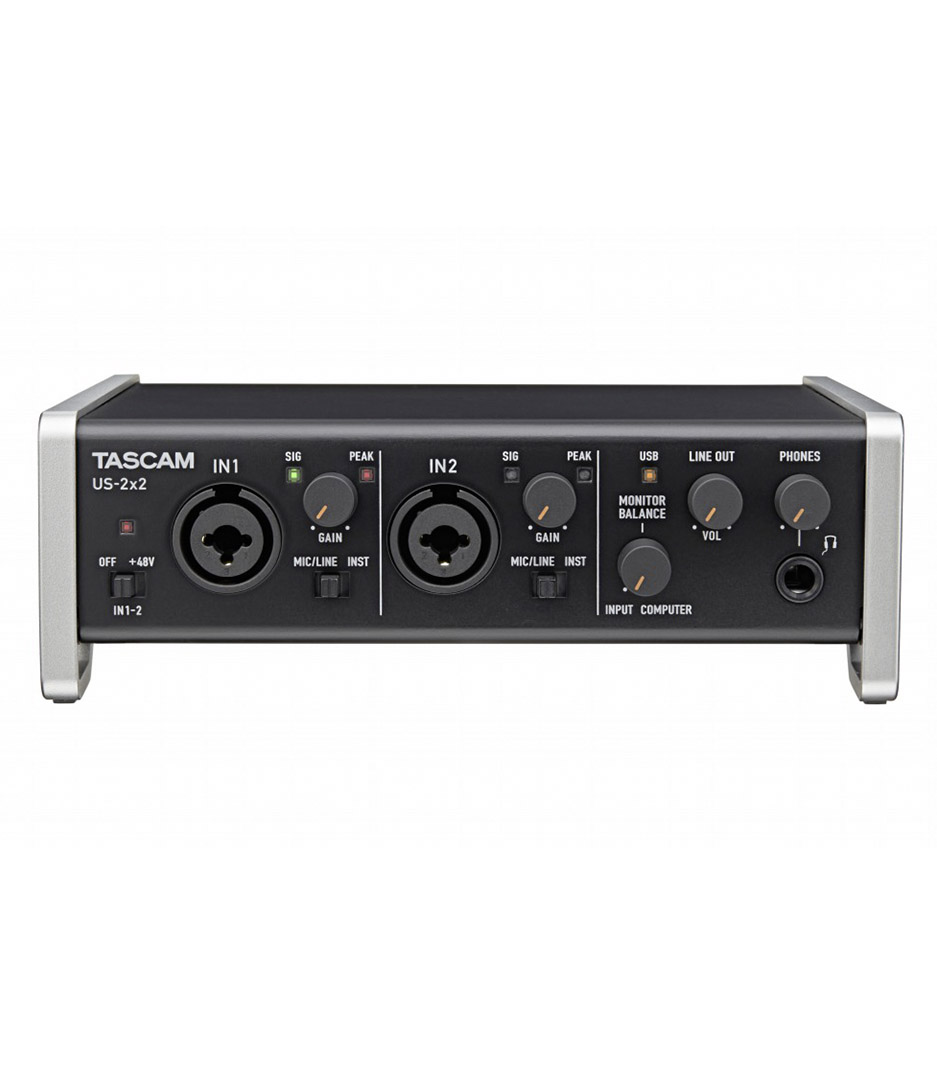 buy tascam us 2x2 2 in out usb audio interface