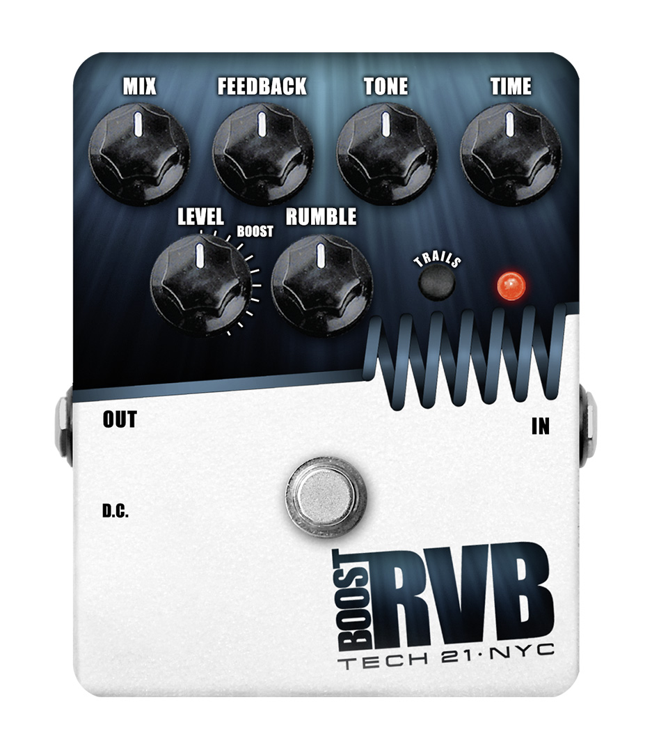 Tech21 - RVBT V2 Boost RVB Analog Reverb Emulator with Cle