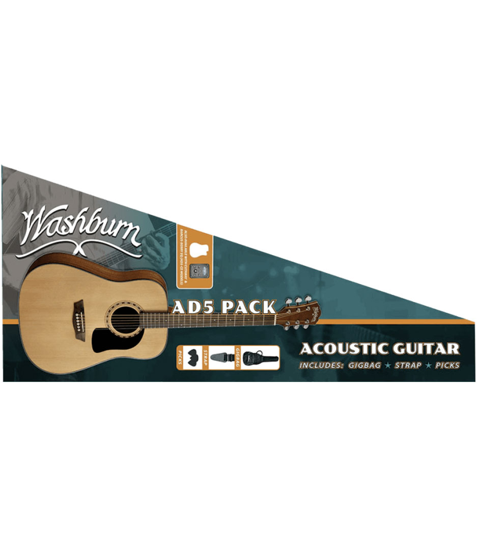 buy washburn ad5pack dreadnaught acoustic guitar pack with soft