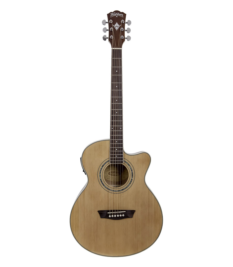 buy washburn eat12 acoustic electric thinline mini jumbo guitar